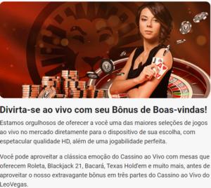 Leovegas casino ofece excelentes leovegas bonus, aproveite e comece a jogar no leovegas Brasil
