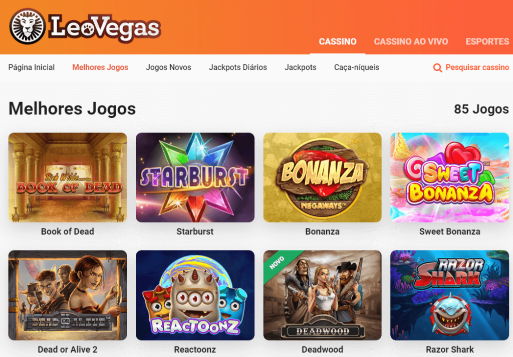 Leovegas Brasil tem uma vasta variedade de jogos. Venha divertir se e aproveite para ganhar no leovegas casino
